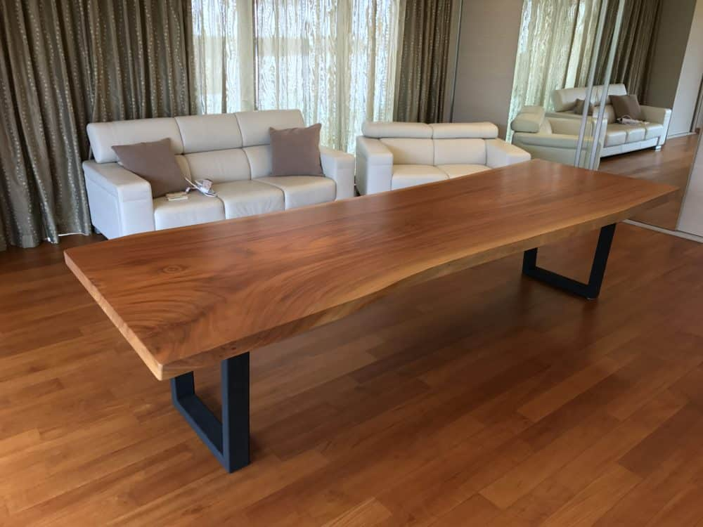 raw wood table top singapore