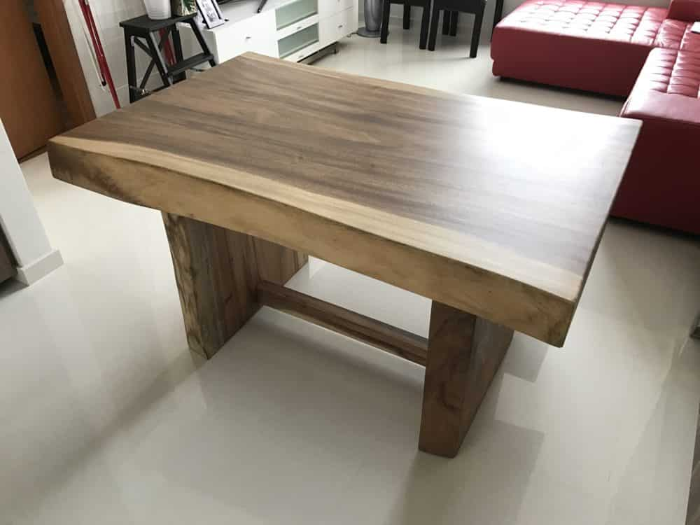 wood table top singapore