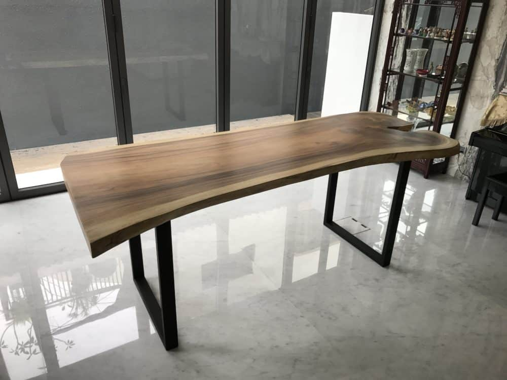 suar wood table residential singapore