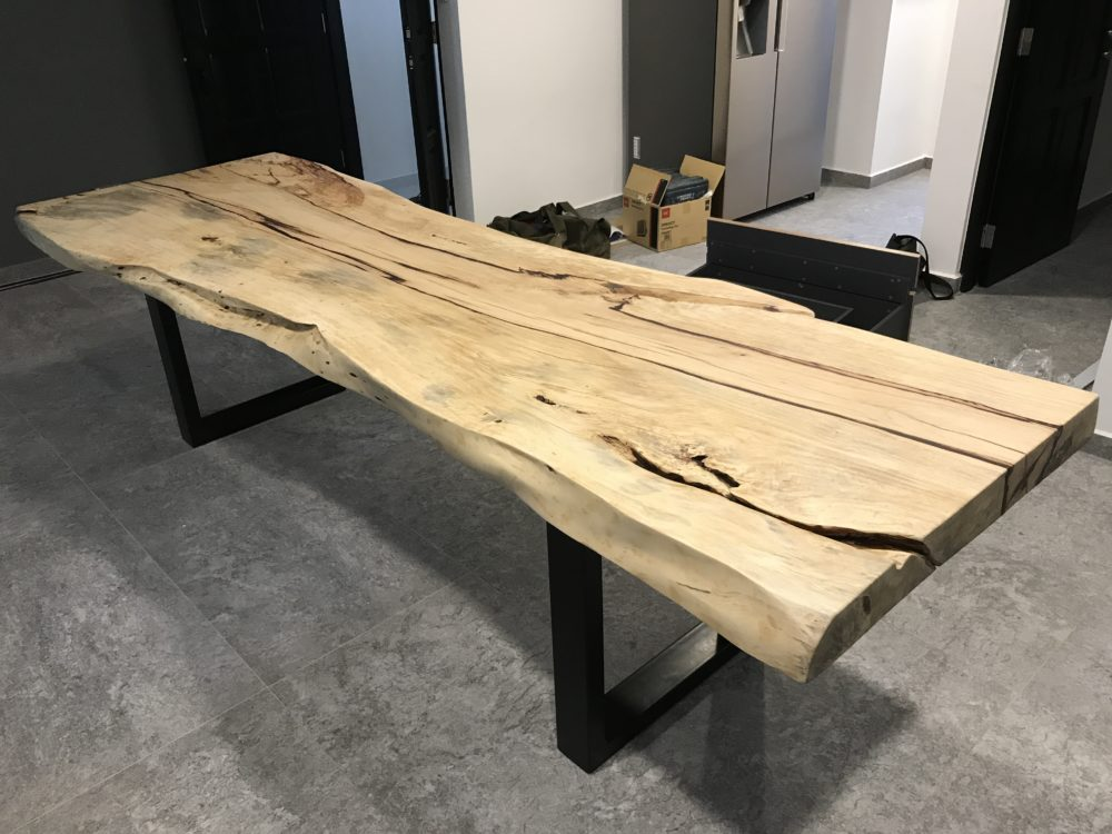 raw wood slab singapore