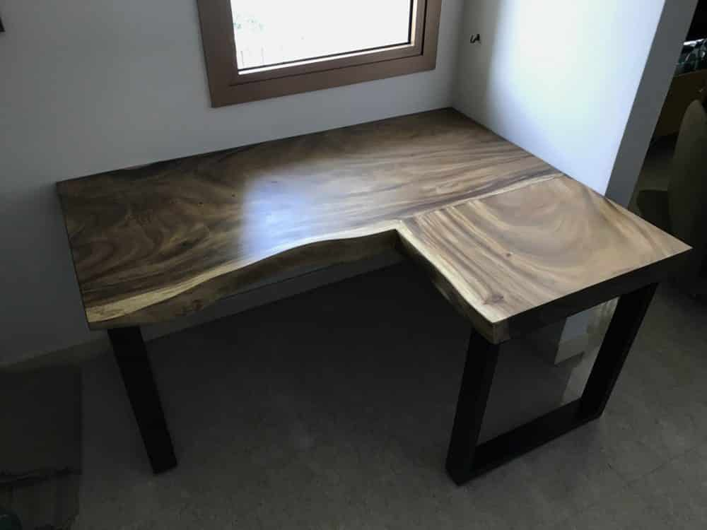 L Shape Study Table