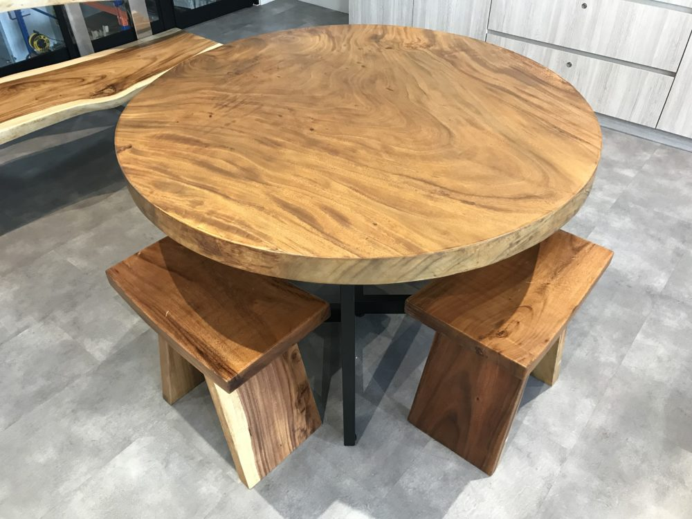 Suar Wood Round Table singapore
