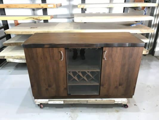 Wooden Fish Tank Cabinet