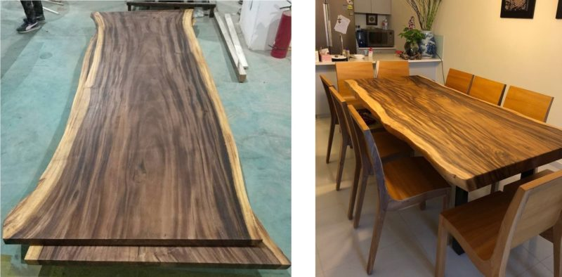 South American Walnut (Left) & South East Asia Suar Wood (Right)