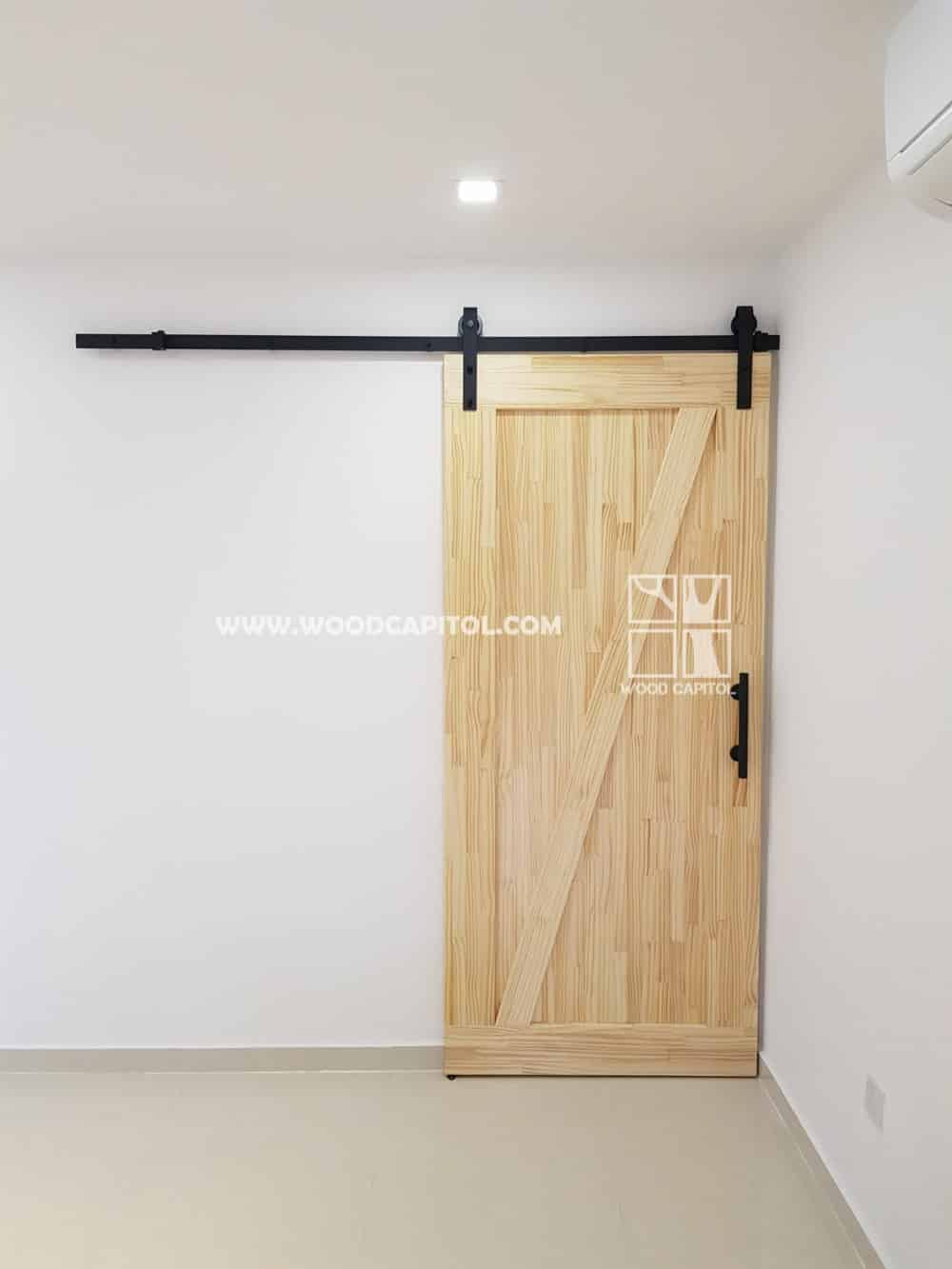 Wood Capitol Barndoor