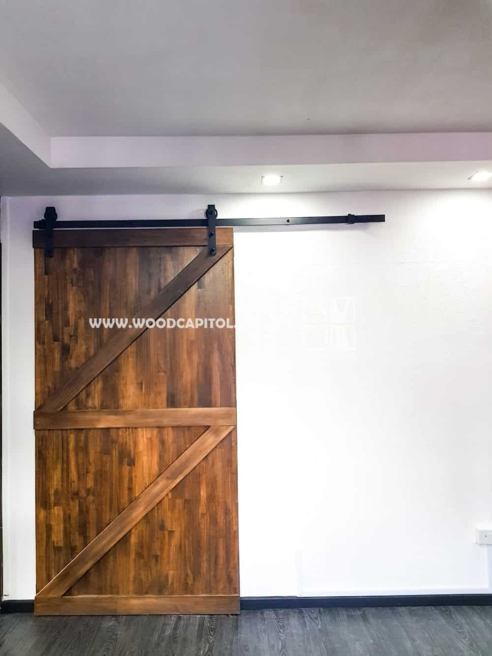 Wood Capitol Double Z Brace Sliding Barn Door