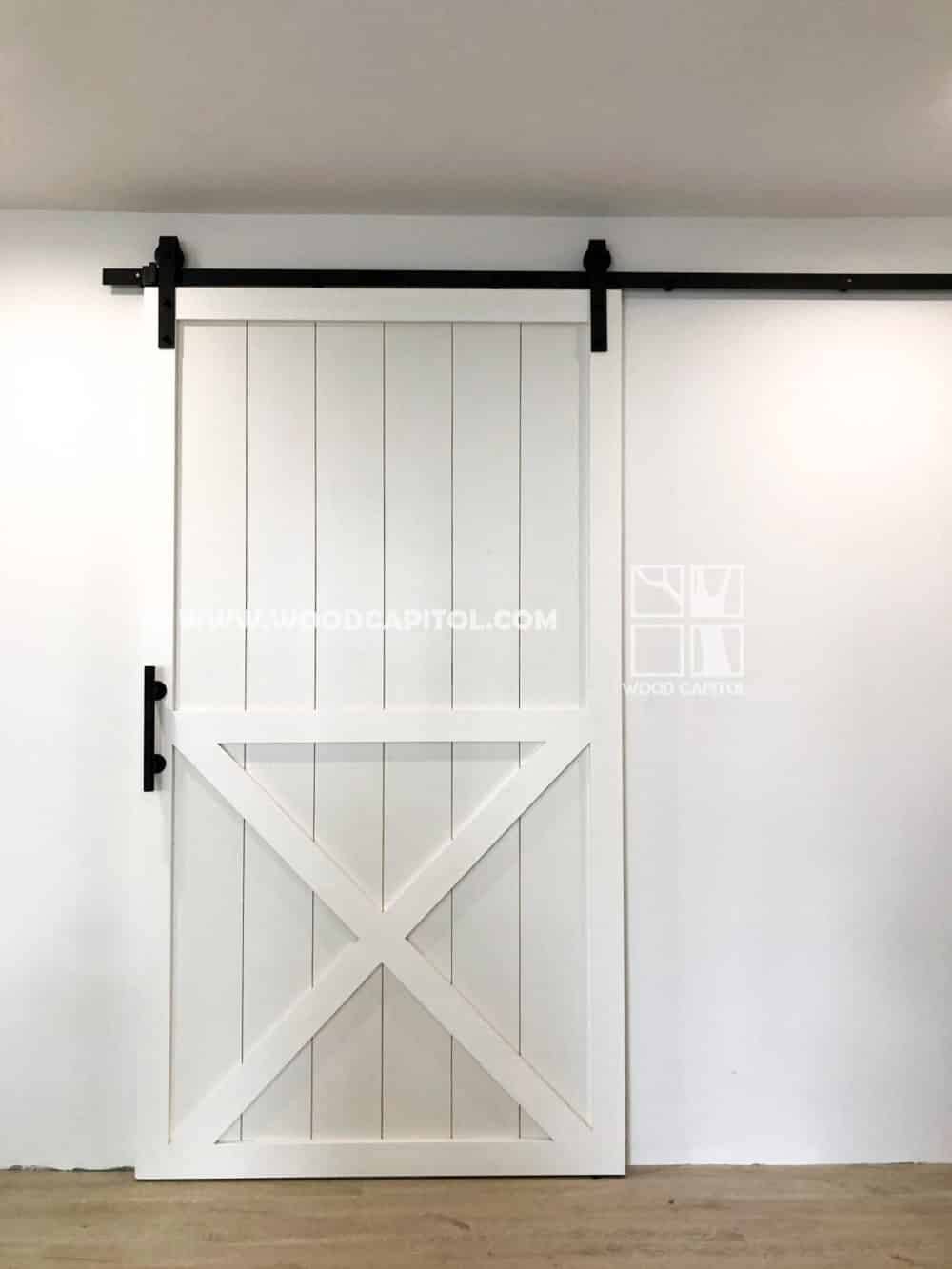 Wood Capitol Half X Sliding Barn Door