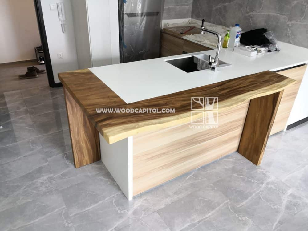 Wood Capitol L Wooden Counter Top 2