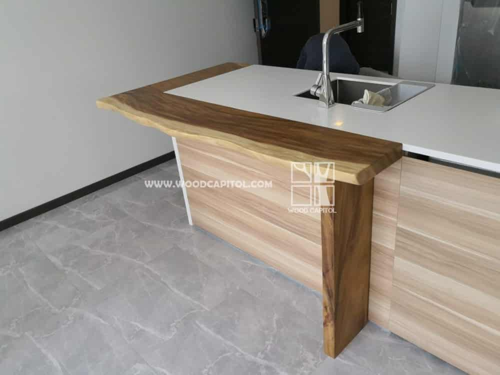 Wood Capitol L Wooden Counter Top