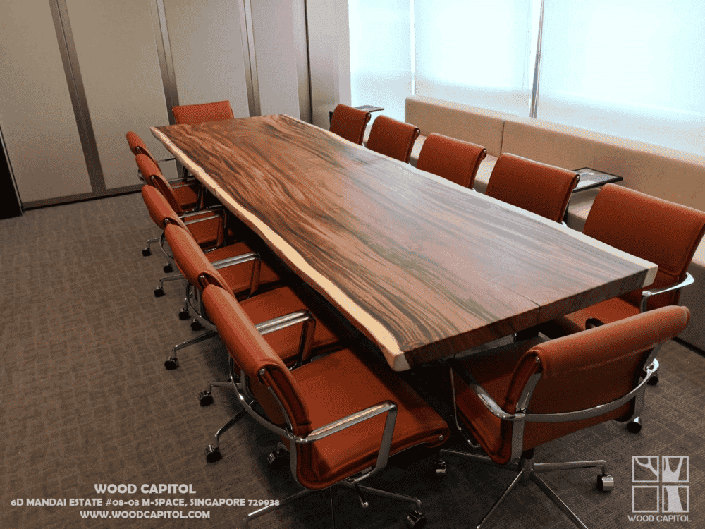 Wood Capitol Natural Wood Conference Table 1