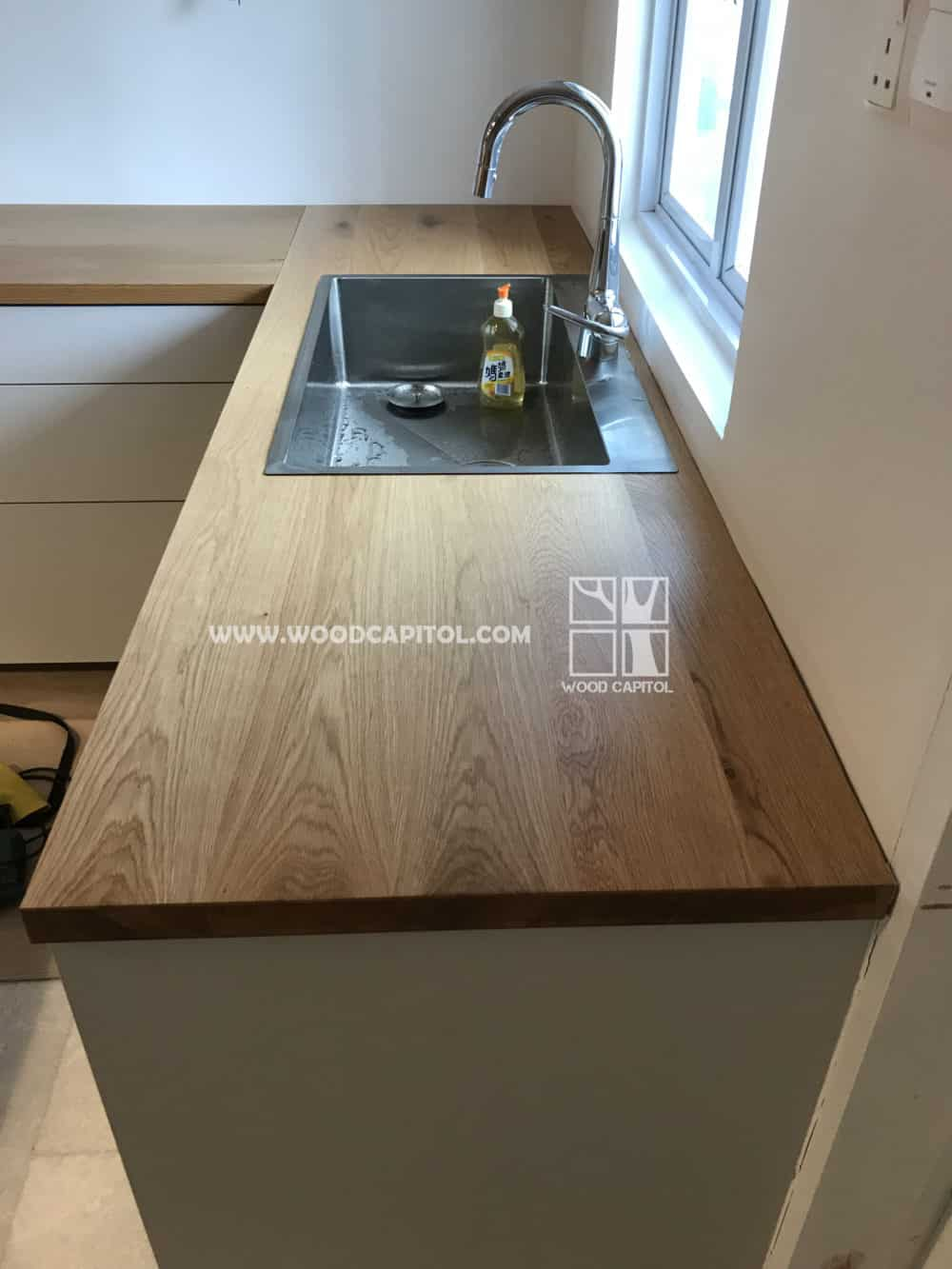 Wood Capitol Oak Wood Kitchen Sink Counter Top