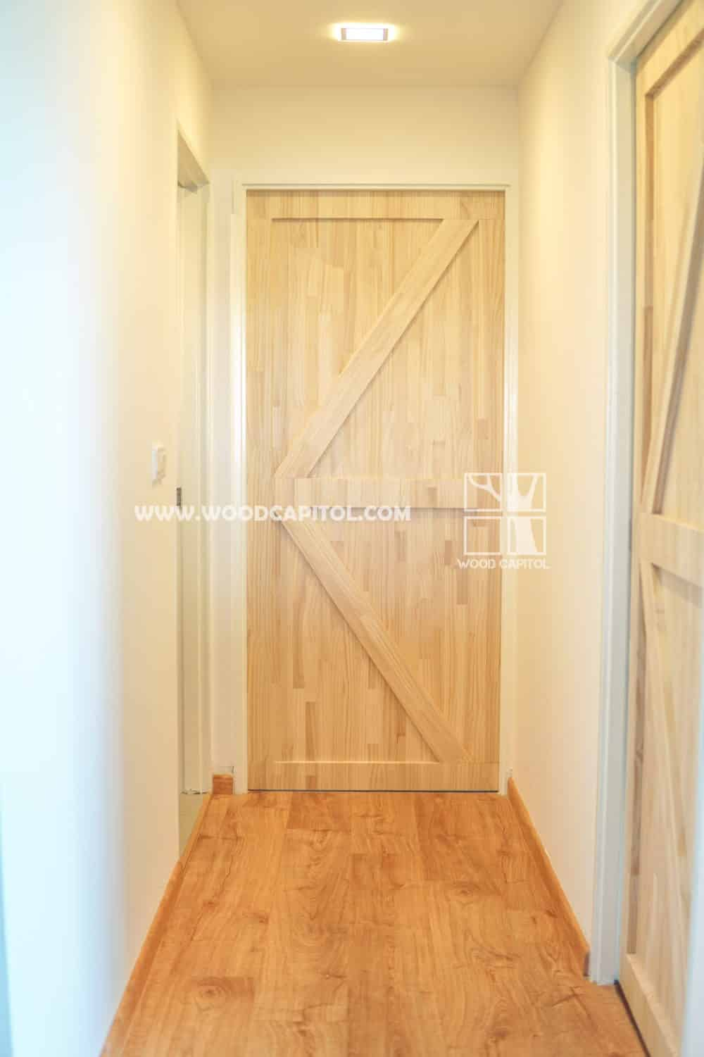 Wood Capitol Pine Wood Bedroom Door