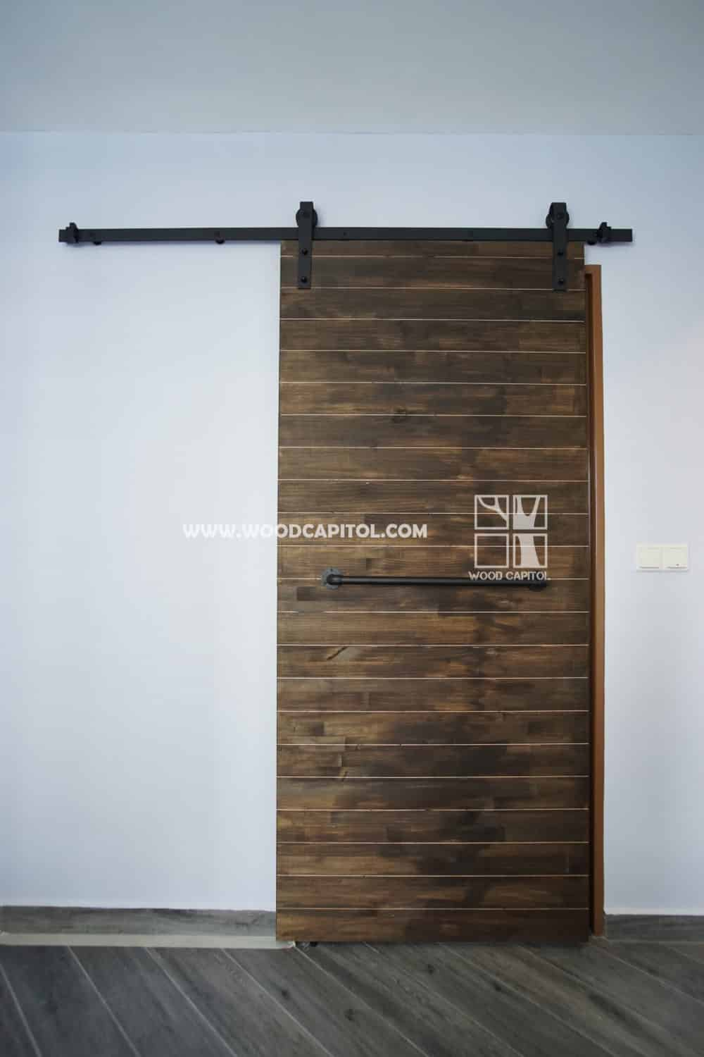 Wood Capitol Plank Sliding Barn Door
