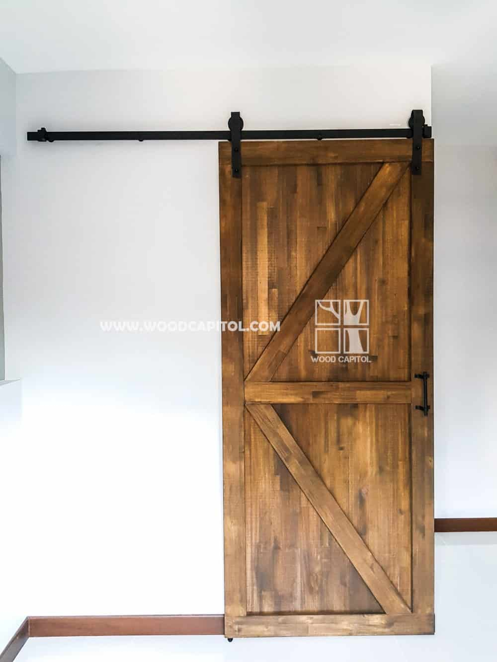 Wood Capitol Rustic Door