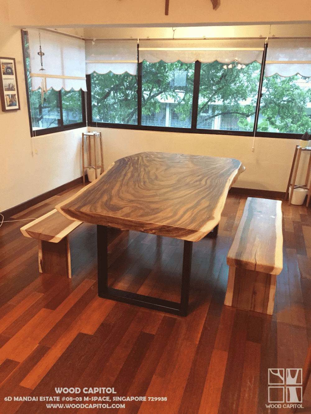 Wood Capitol Solid Wood Table Singapore