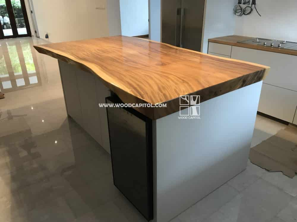 Wood Capitol Suar Wood Kitchen Island Counter Top