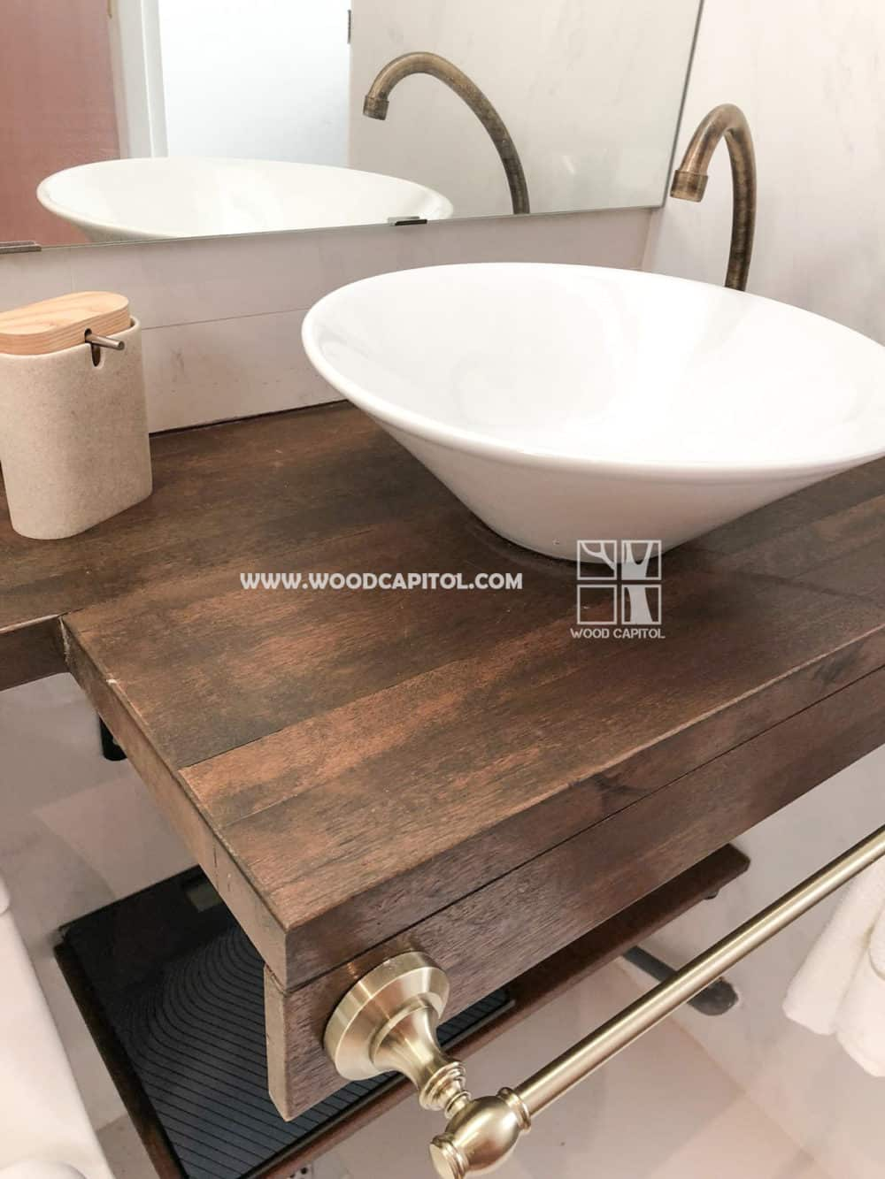 Wood Capitol Wooden Vanity Toilet 4